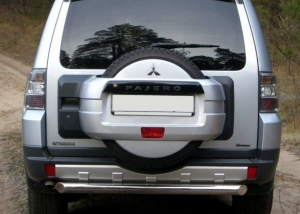 Mitsubishi Pajero 4 защита заднего  бампера d76 MPZ-000134